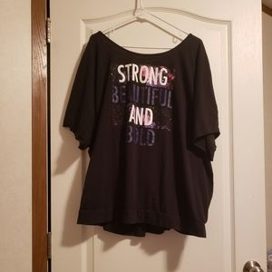 """Strong and Beautiful"" Open Back Active Top"